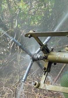 Düsenkopf bei der Wasserhochdrucktechnik